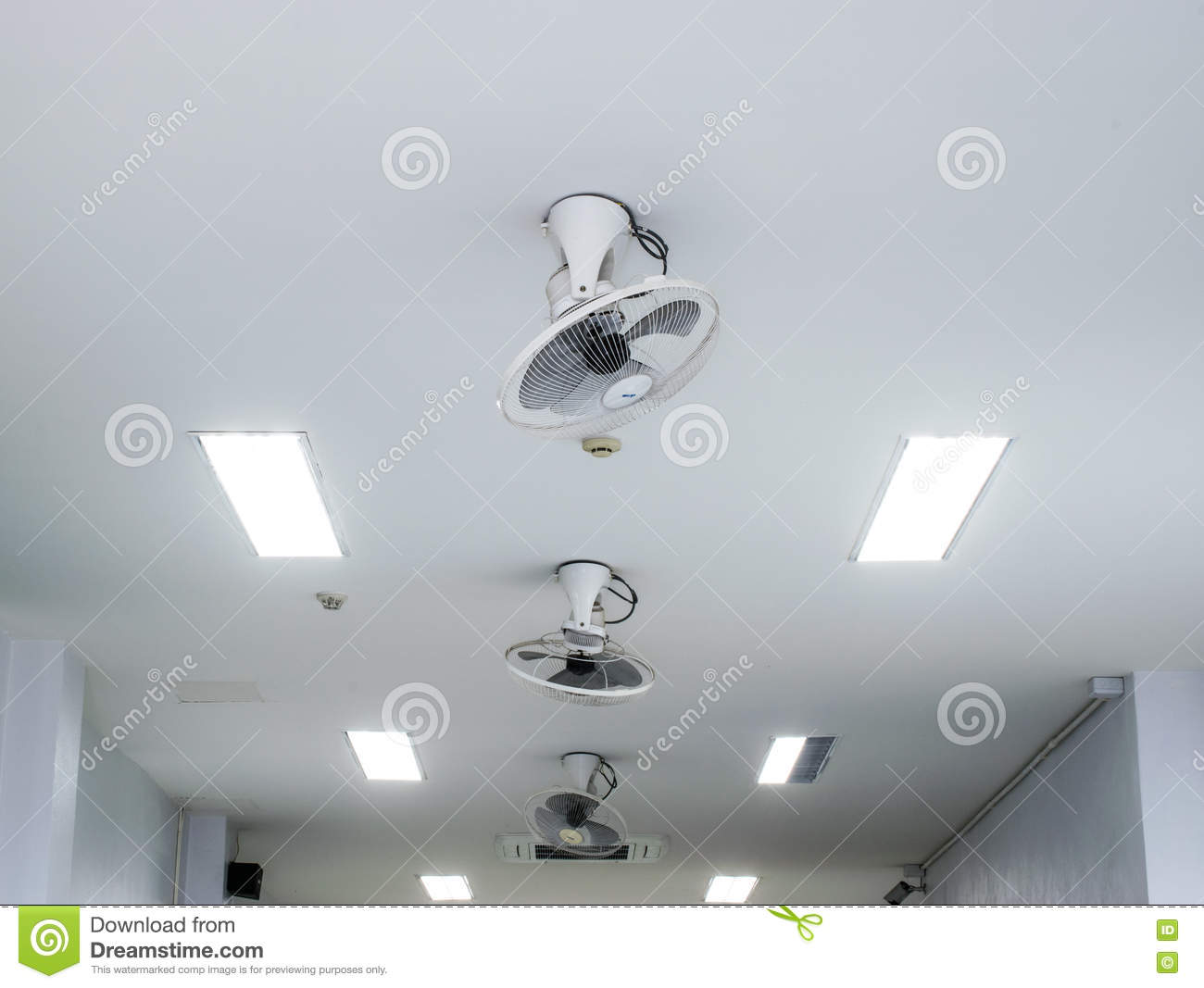 Ceiling fan on white office ceiling stock image image 72681277 ceiling fan on white office ceiling mozeypictures Gallery