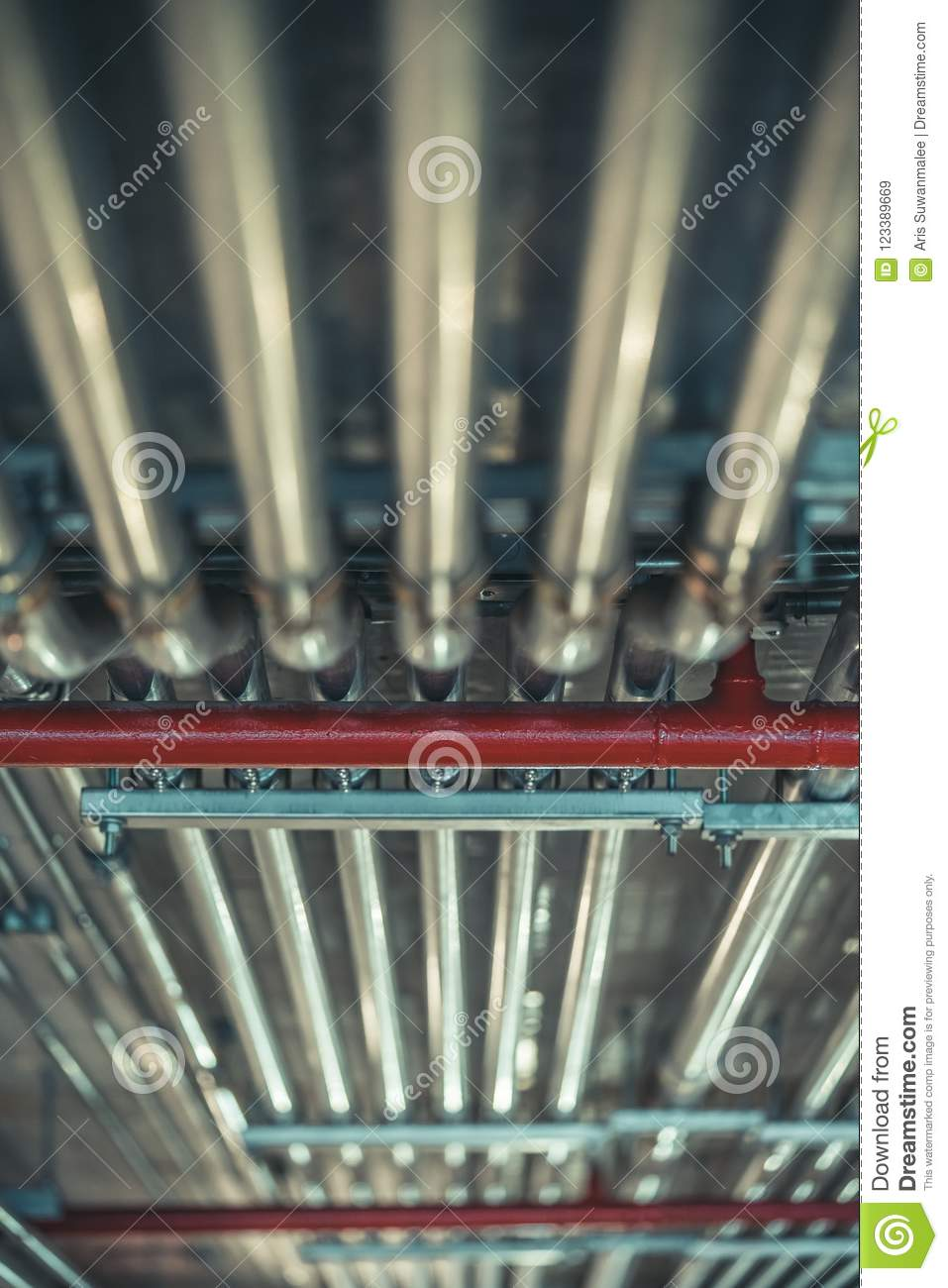 Ceiling Fire Hydrant Steel Pipe Clamp Stock Image - Image of