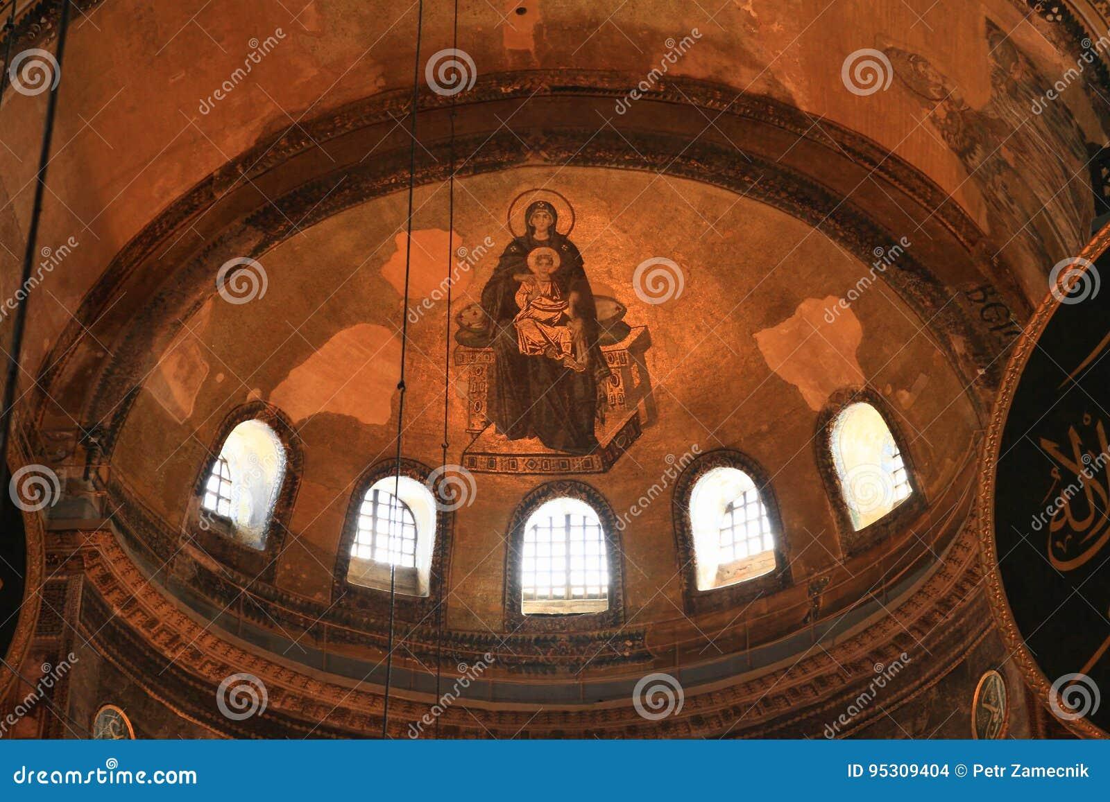 Ceiling of Hagia Sofia in Istanbul