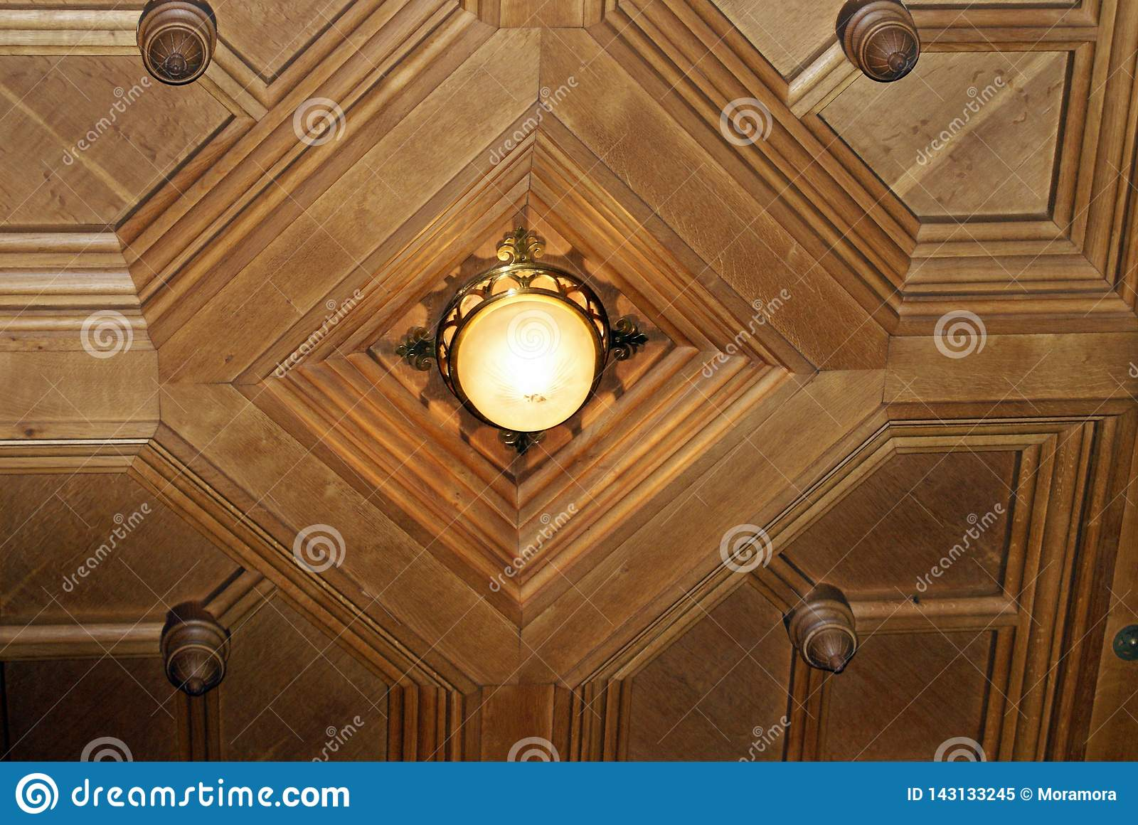 Ceiling Lamp In Glass And Metal Art Deco Style Stock Image Image Of Lights Home 143133245