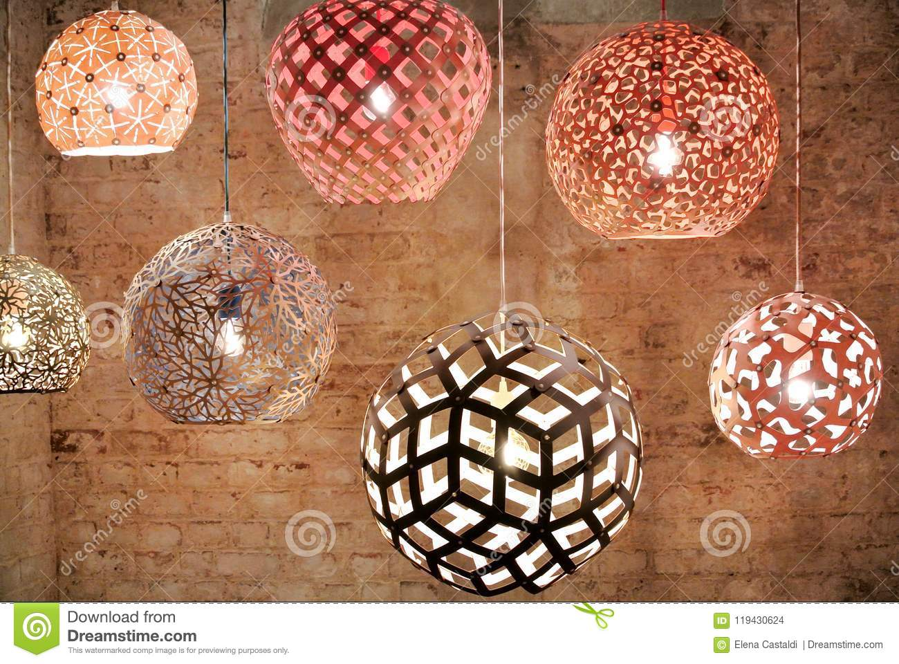 The ceiling lamps