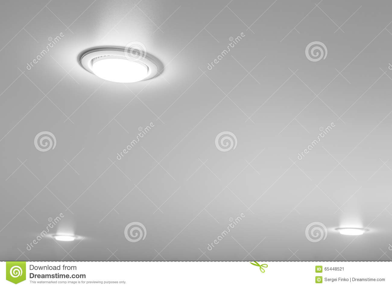 Ceiling Light Closeup Stock Image Of Fixture Installing Overhead Wiring Download 65448521