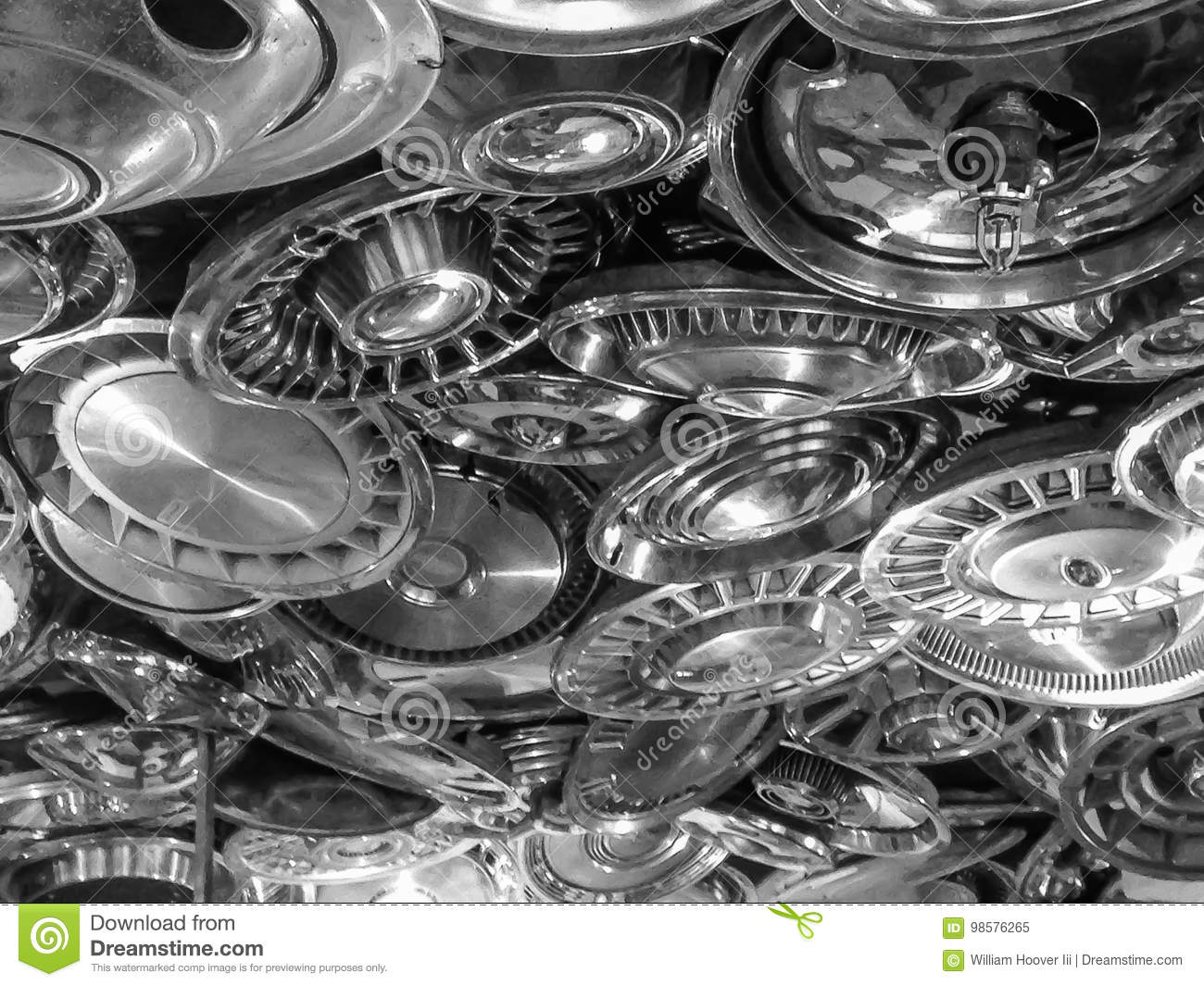 Sprinkler Used Cars >> A Ceiling Made Of Old Used Hubcaps Stock Image Image Of