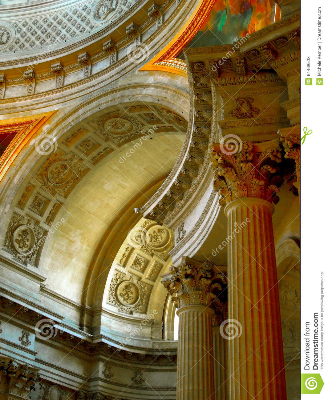 Military Museum Ceiling Paris Stock Photo - Image of attraction