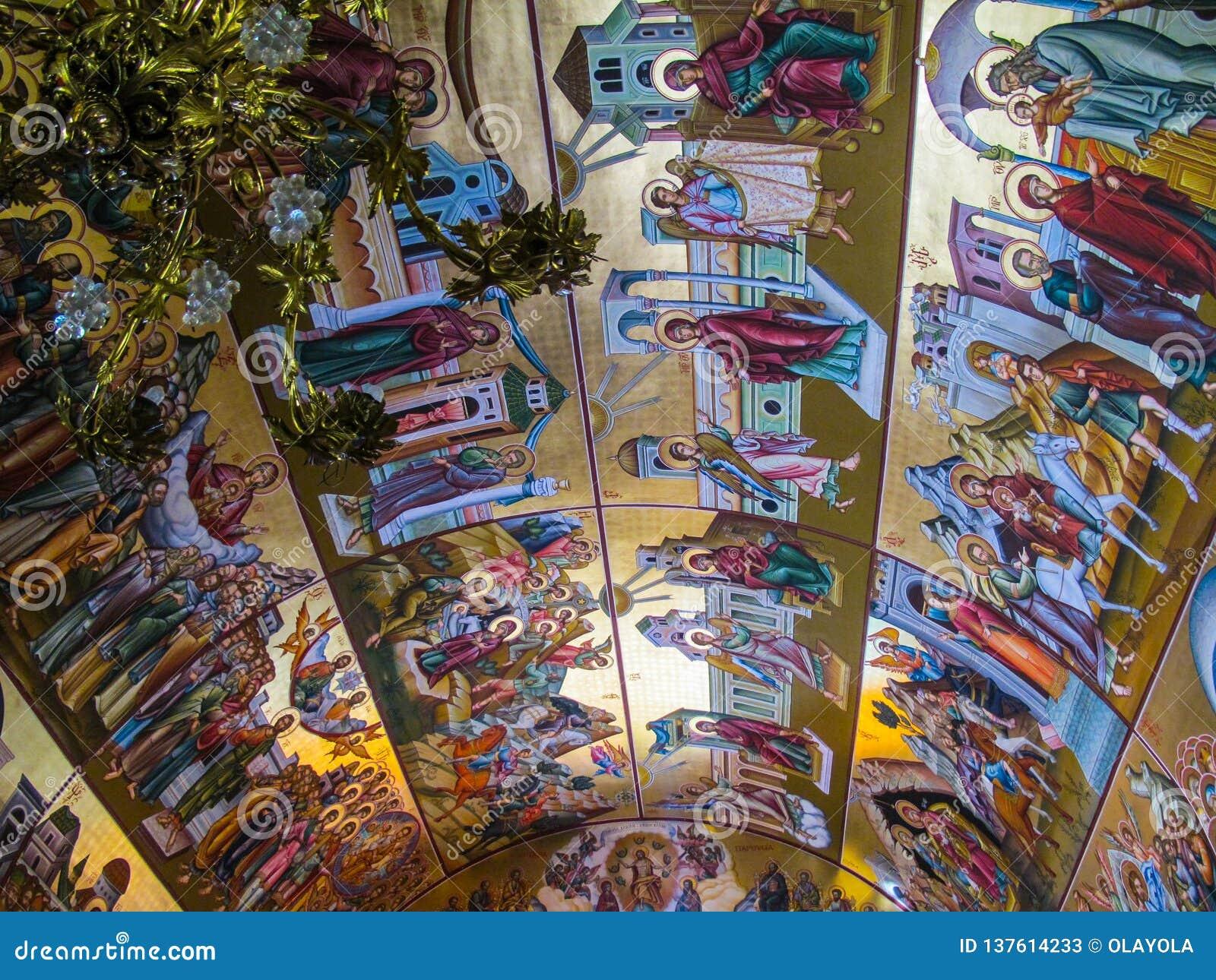 The Ceiling Of Orthodox Church Of Saint Savvas, Of The