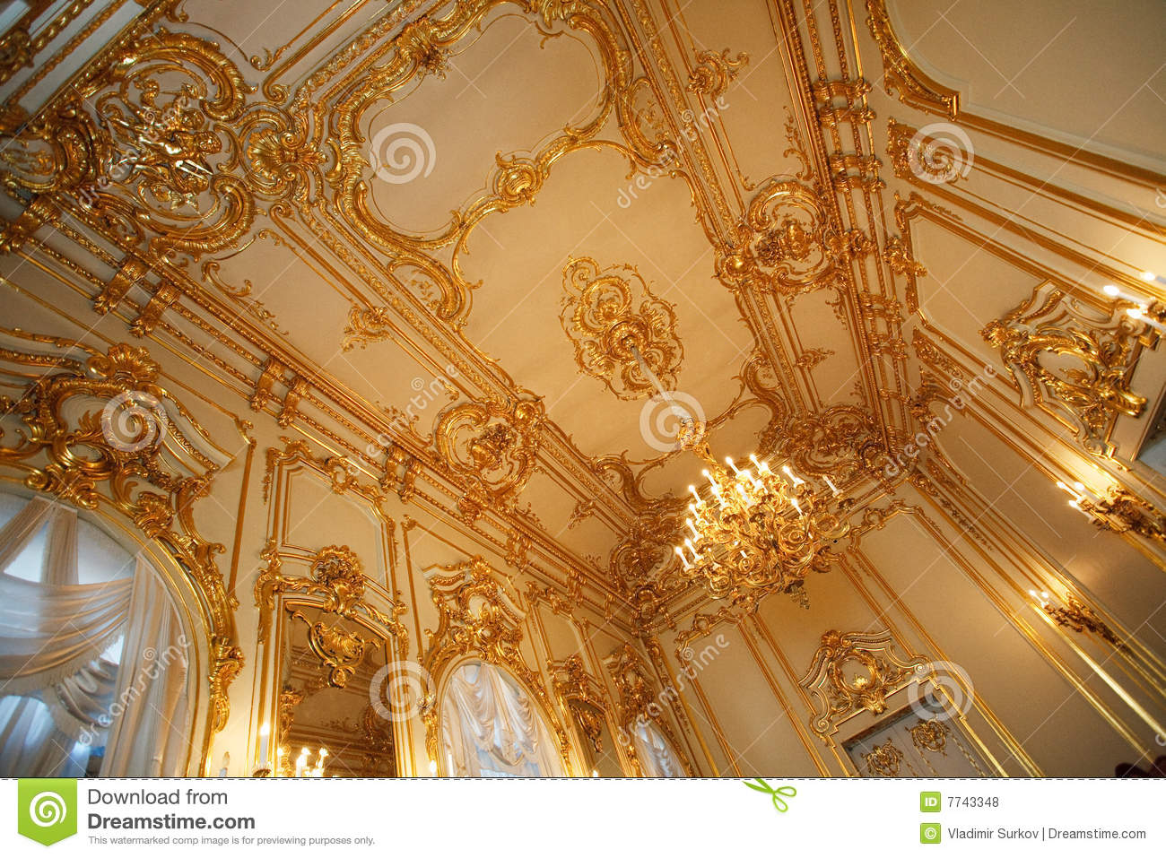 Ceiling In The Palace Royalty Free Stock Photos - Image: 7743348