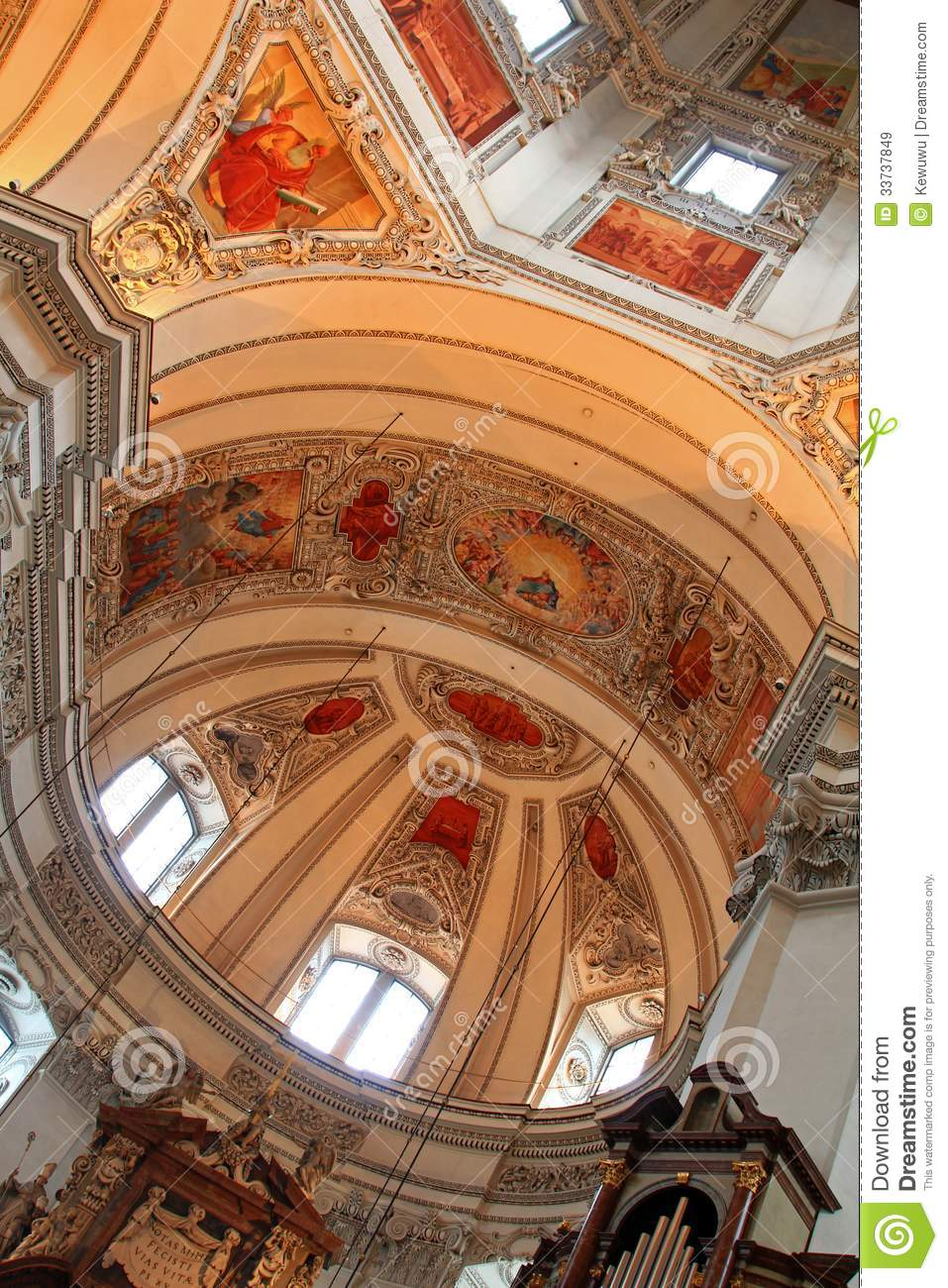 Ceiling at the Salzburg Cathedral (Salzburger Dom)