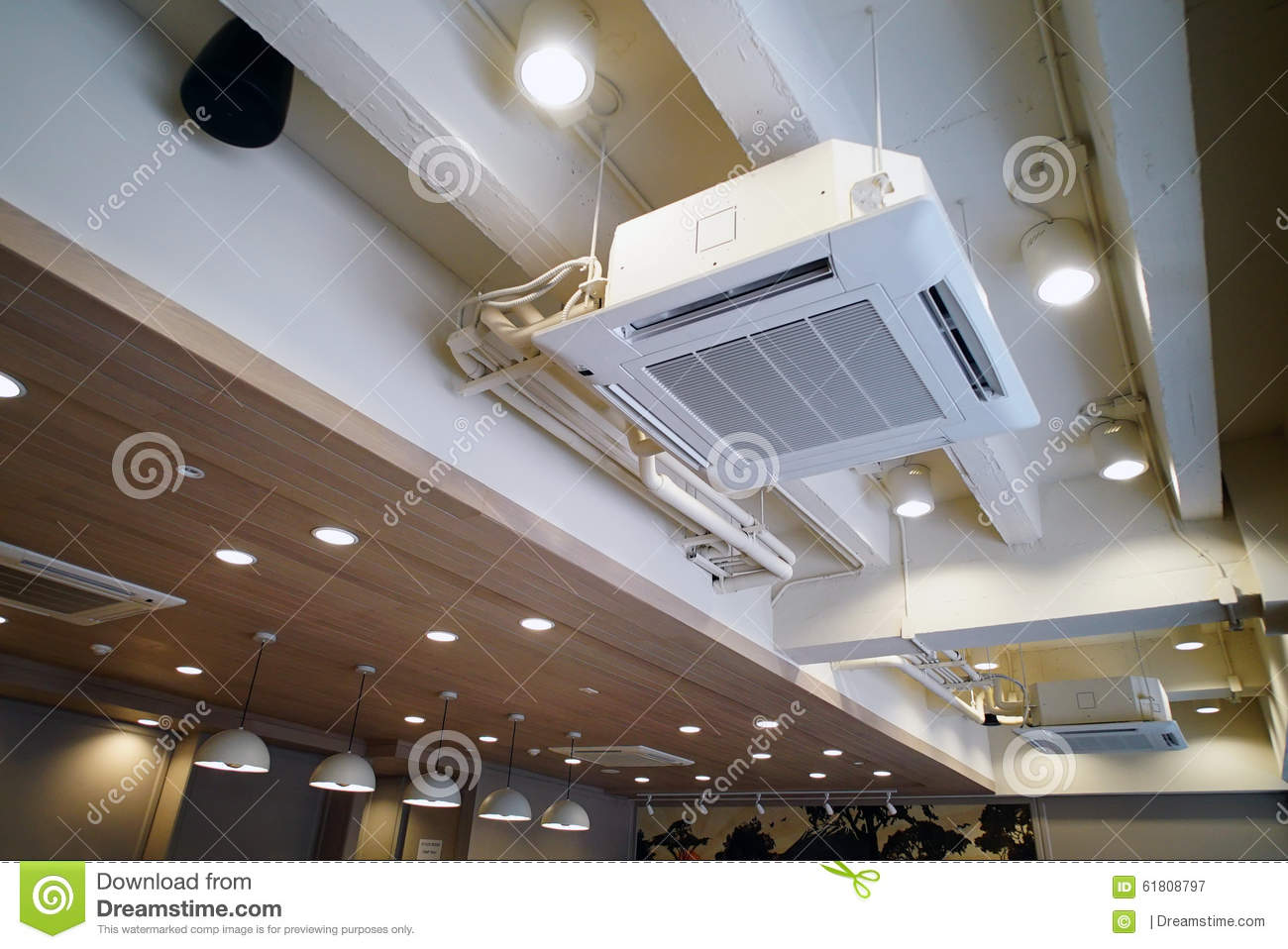 Ceiling Type Hanging Air Conditioner Unit Stock Image
