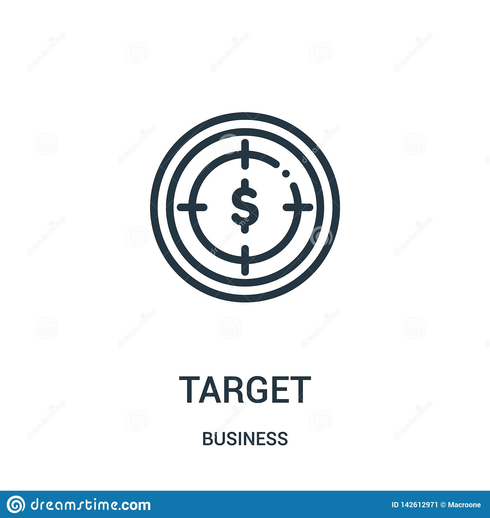 Cel ikony wektor od biznesowej kolekcji Cienka kreskowa celu konturu ikony wektoru ilustracja Liniowy symbol