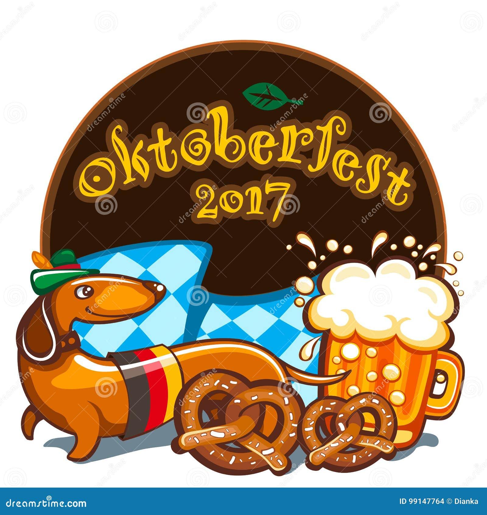 Celebração de Oktoberfest, série da bandeira do vetor
