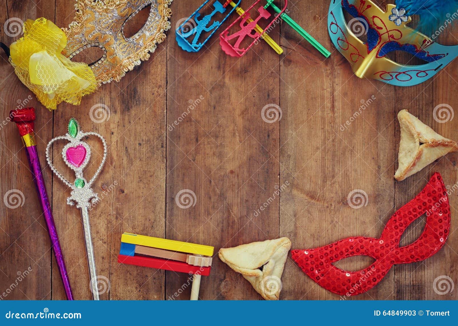 Celebração de Purim (feriado judaico do carnaval) Foco seletivo
