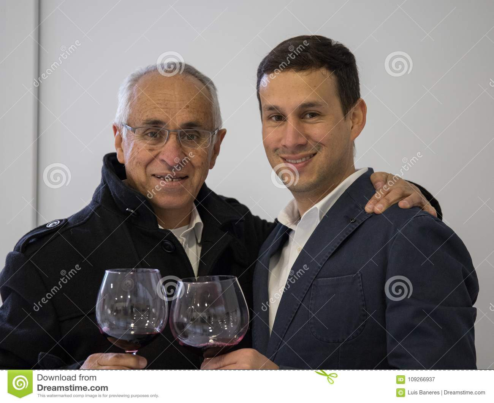 Celebração entre o pai e o filho