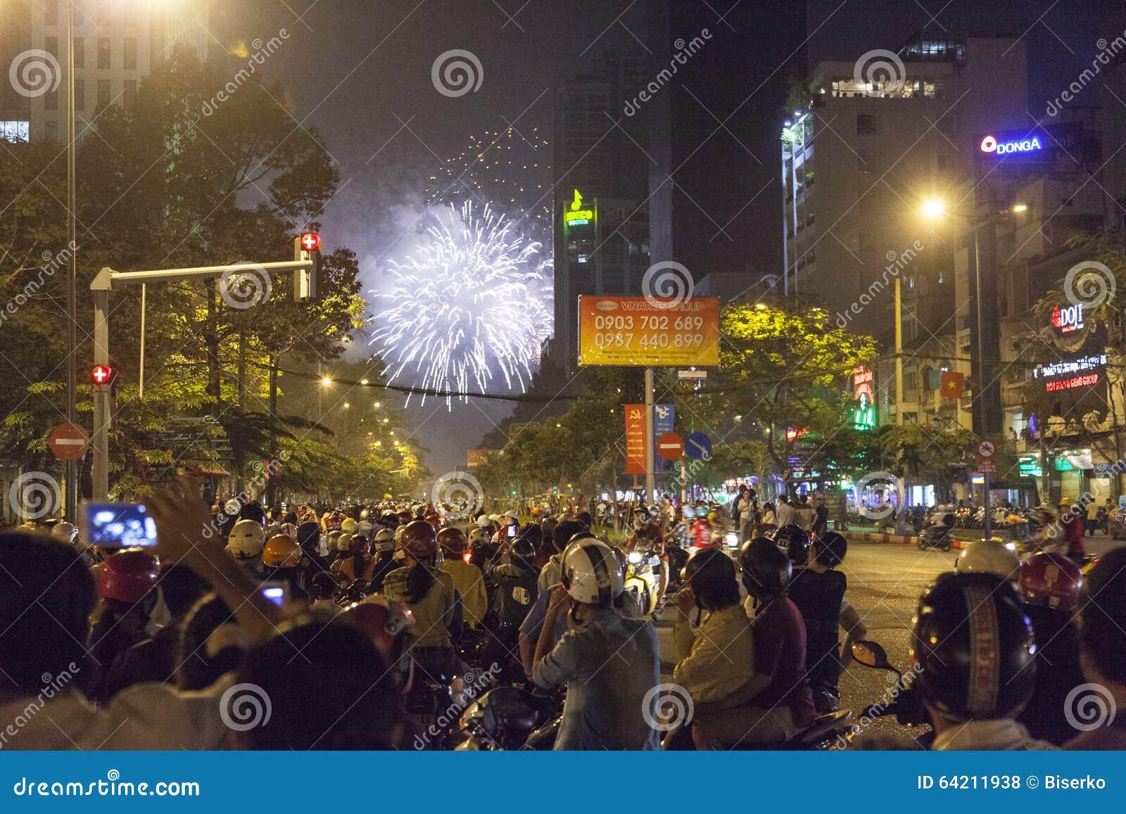 Celebración del Año Nuevo en la ciudad de Ho Chi Minh