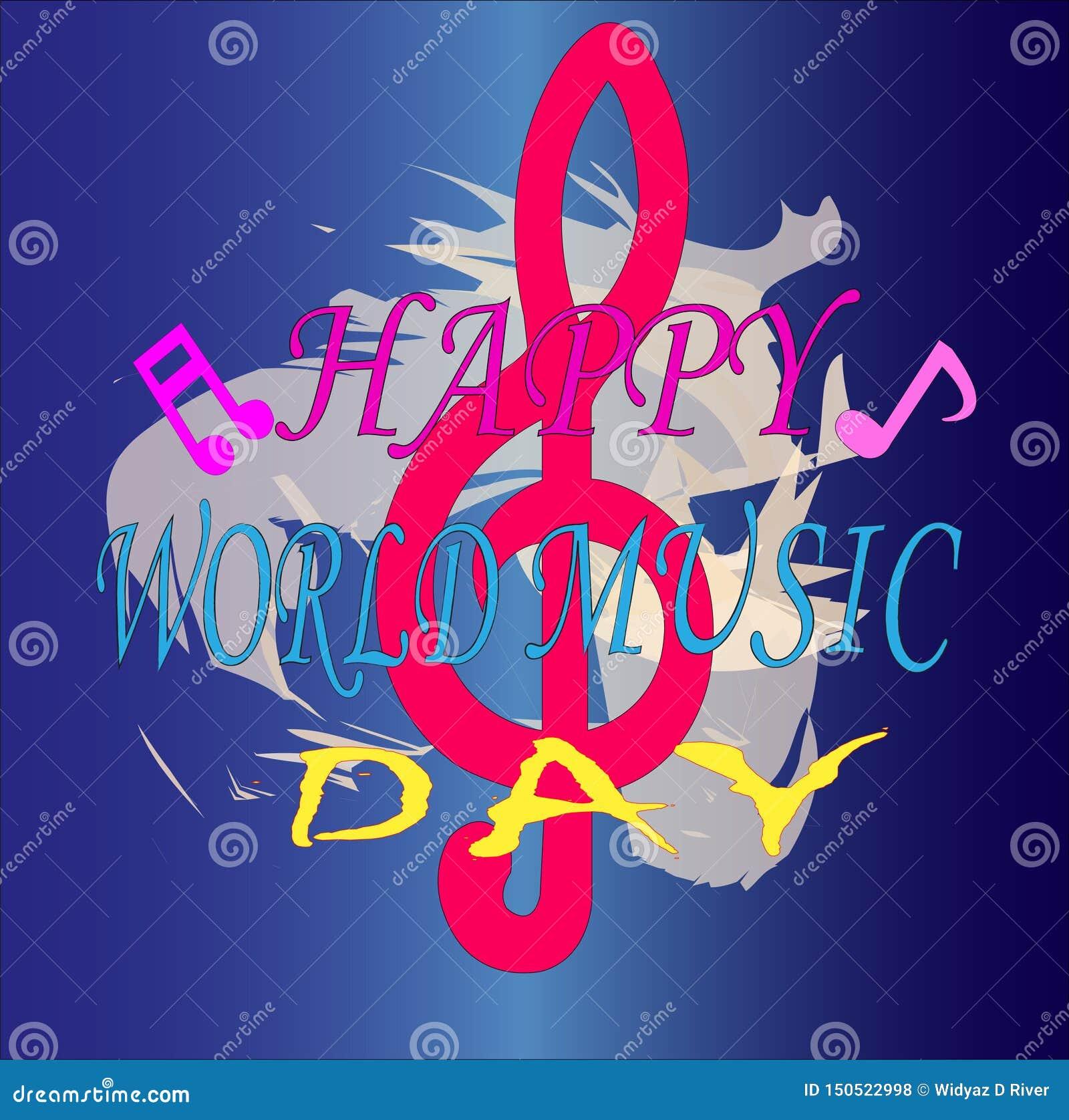 Celebración del fondo del día de la música del mundo para su negocio