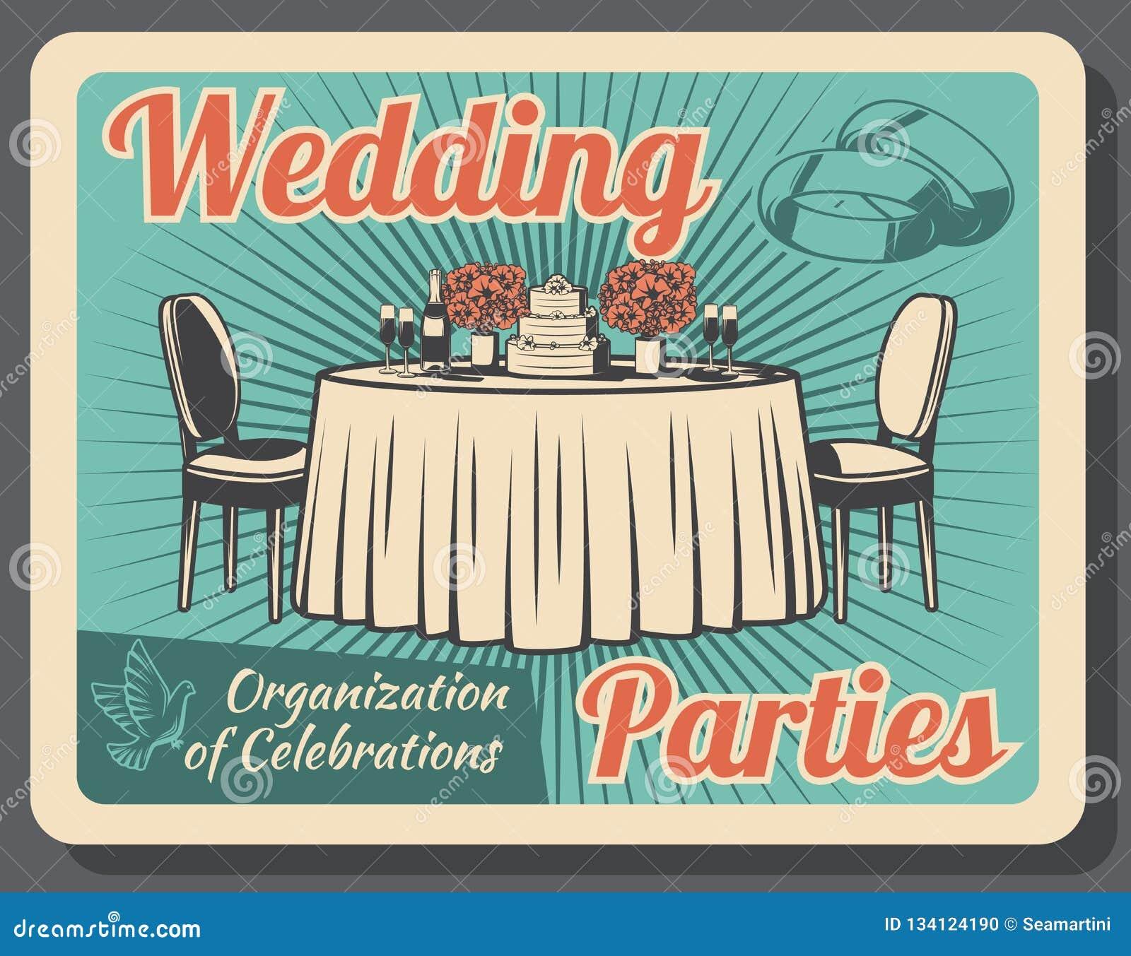 Celebración del matrimonio, organización de banquete de boda
