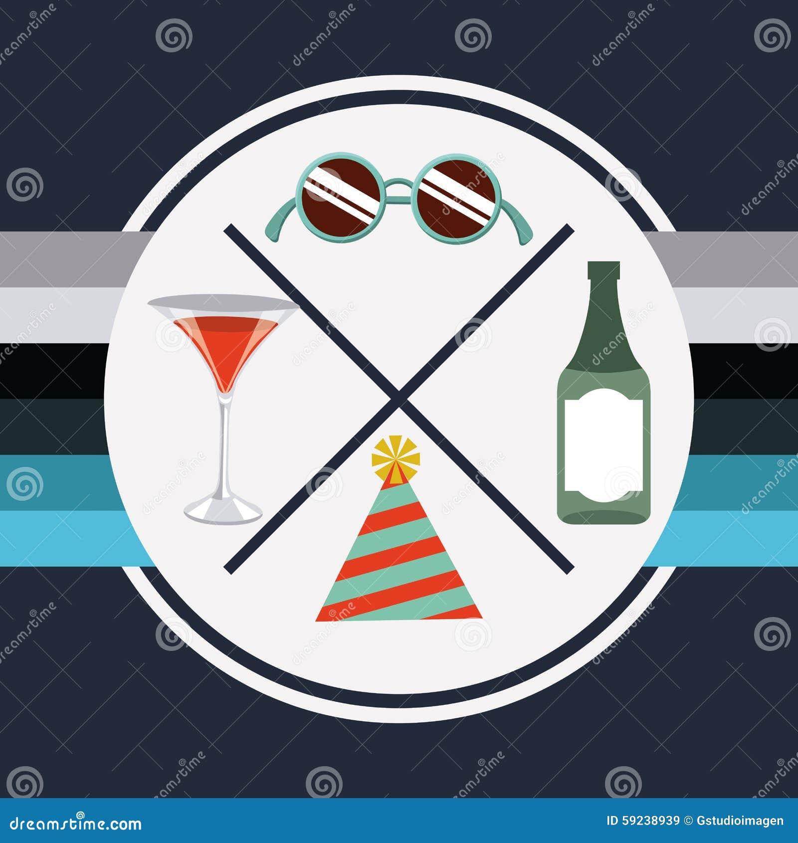 Download Celebración Retra Del Partido Ilustración del Vector - Ilustración de gráfico, cartel: 59238939