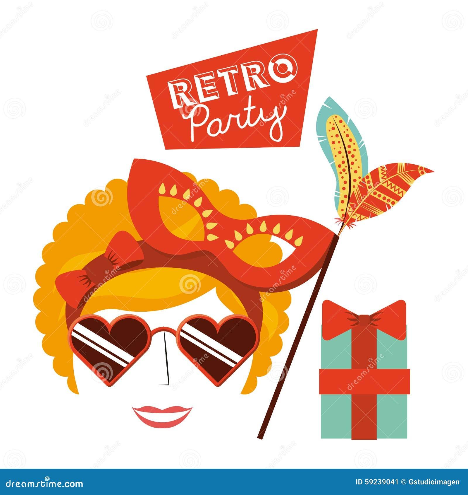 Download Celebración Retra Del Partido Ilustración del Vector - Ilustración de ilustraciones, celebración: 59239041