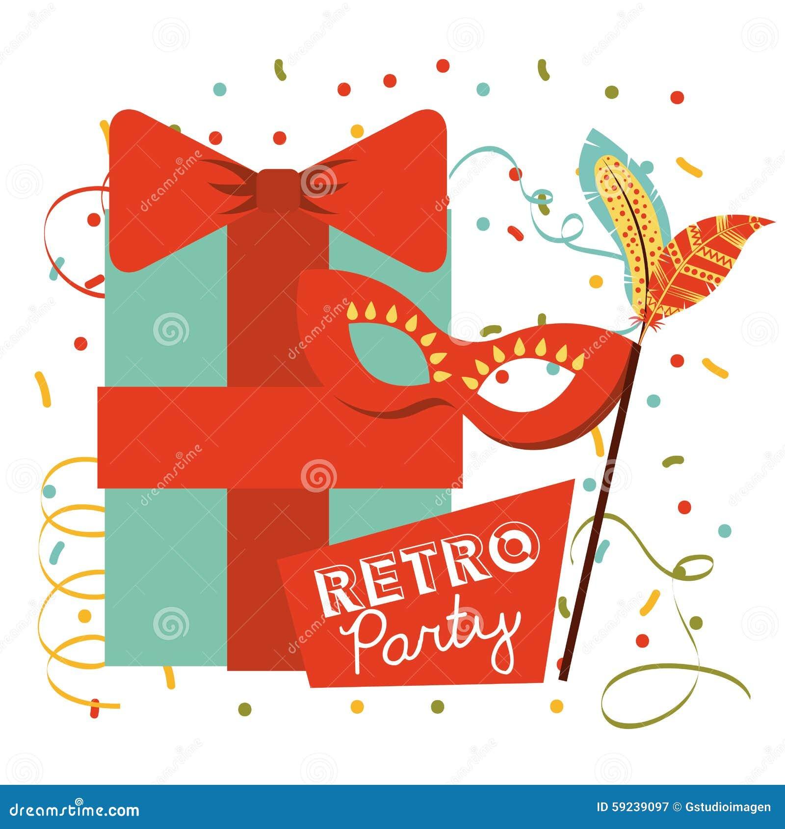 Download Celebración Retra Del Partido Ilustración del Vector - Ilustración de invitado, arte: 59239097