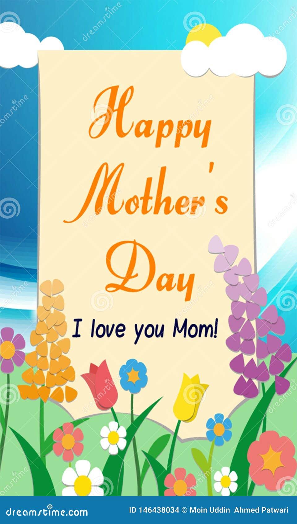 Celebraci?n feliz 2019 del d?a de madre desearle al d?a de madre feliz