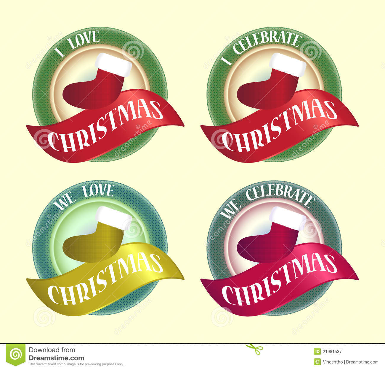 Celebrate Christmas Symbol Badge Icon Logo Design Royalty Free ...
