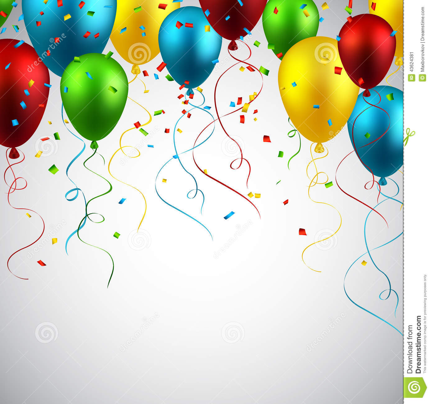 Celebrate Colorful Background With Balloons. Stock Vector