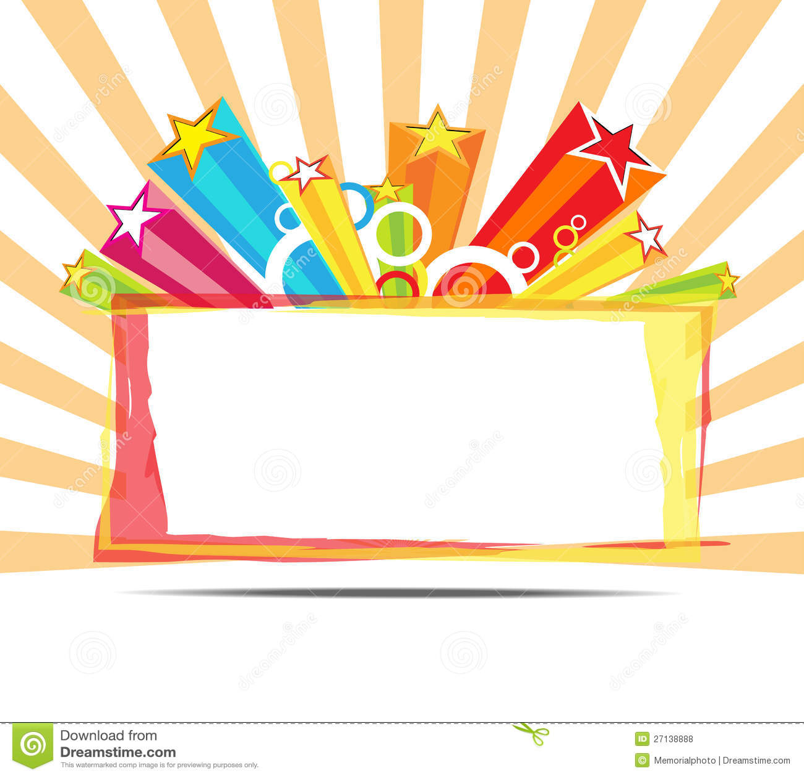 Celebrate decoration background stock vector for Background decoration