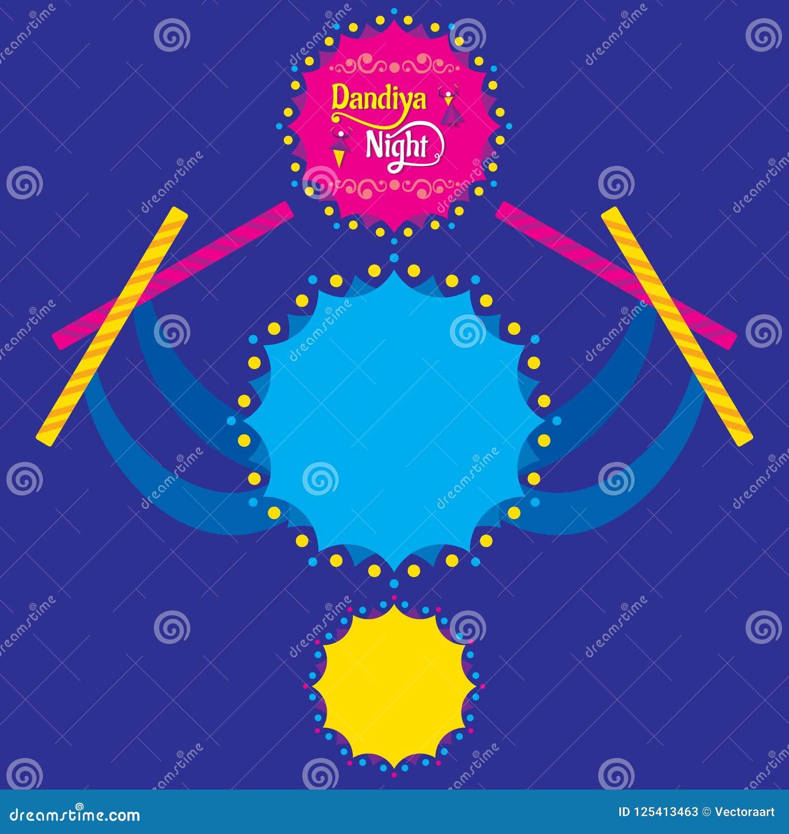 Celebrate Navratri Festival Poster Card Design Stock Vector