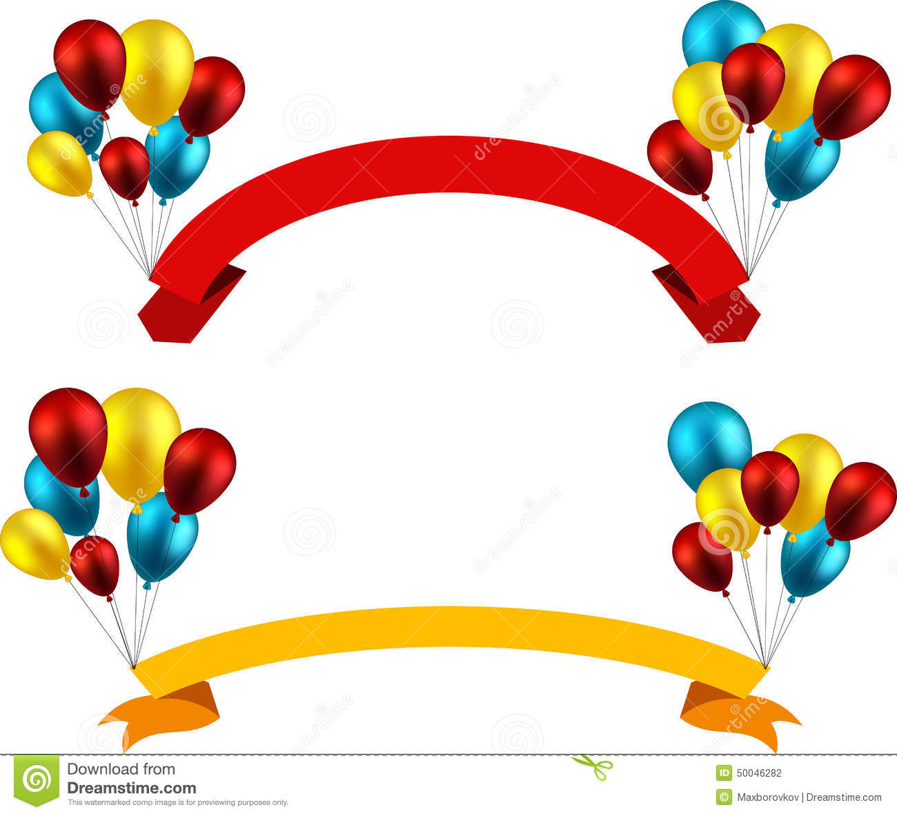 Help with paper ribbons and balloons