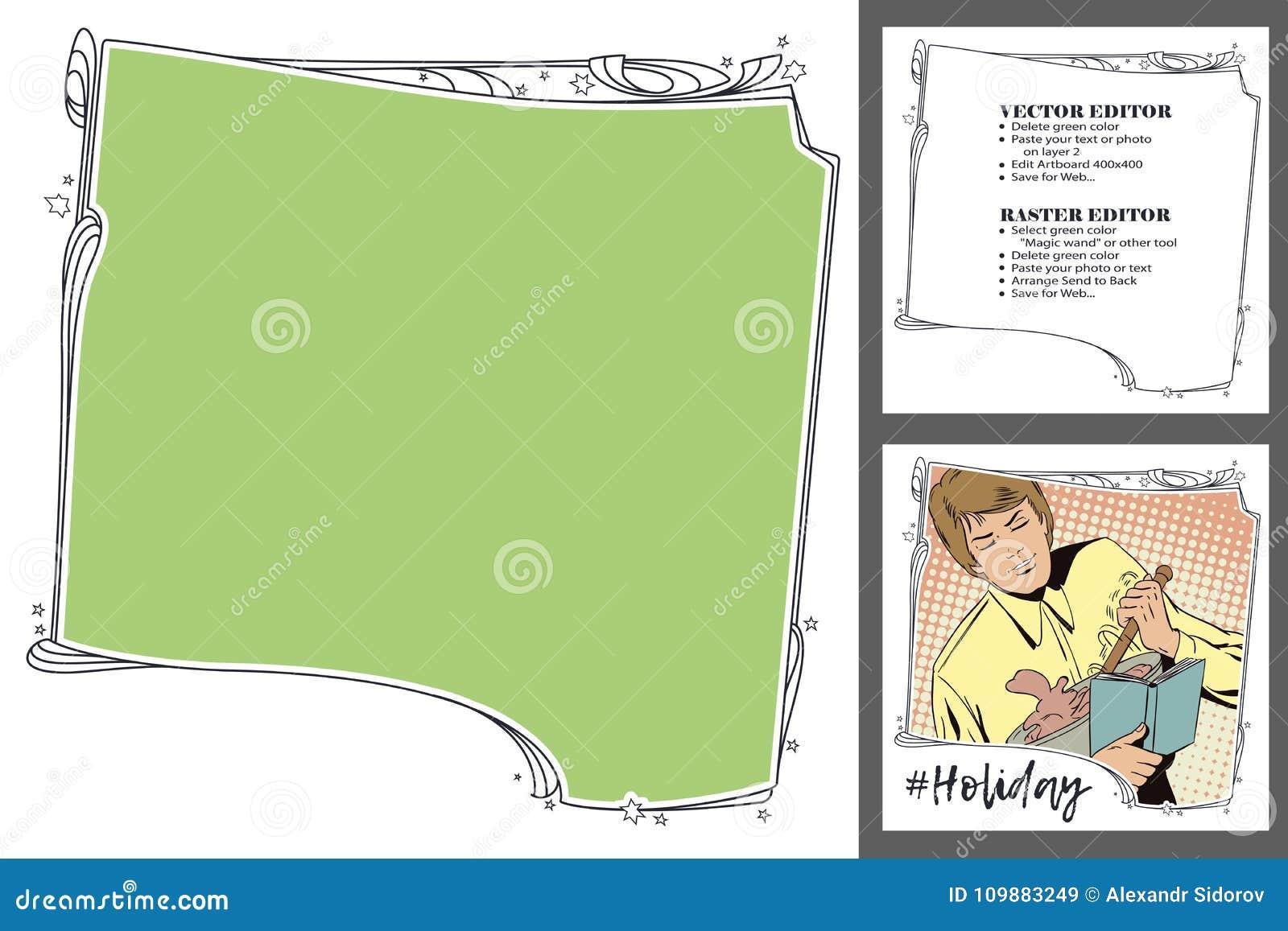Celebratin Theme  Frame For Scrapbook, Banner, Online Store