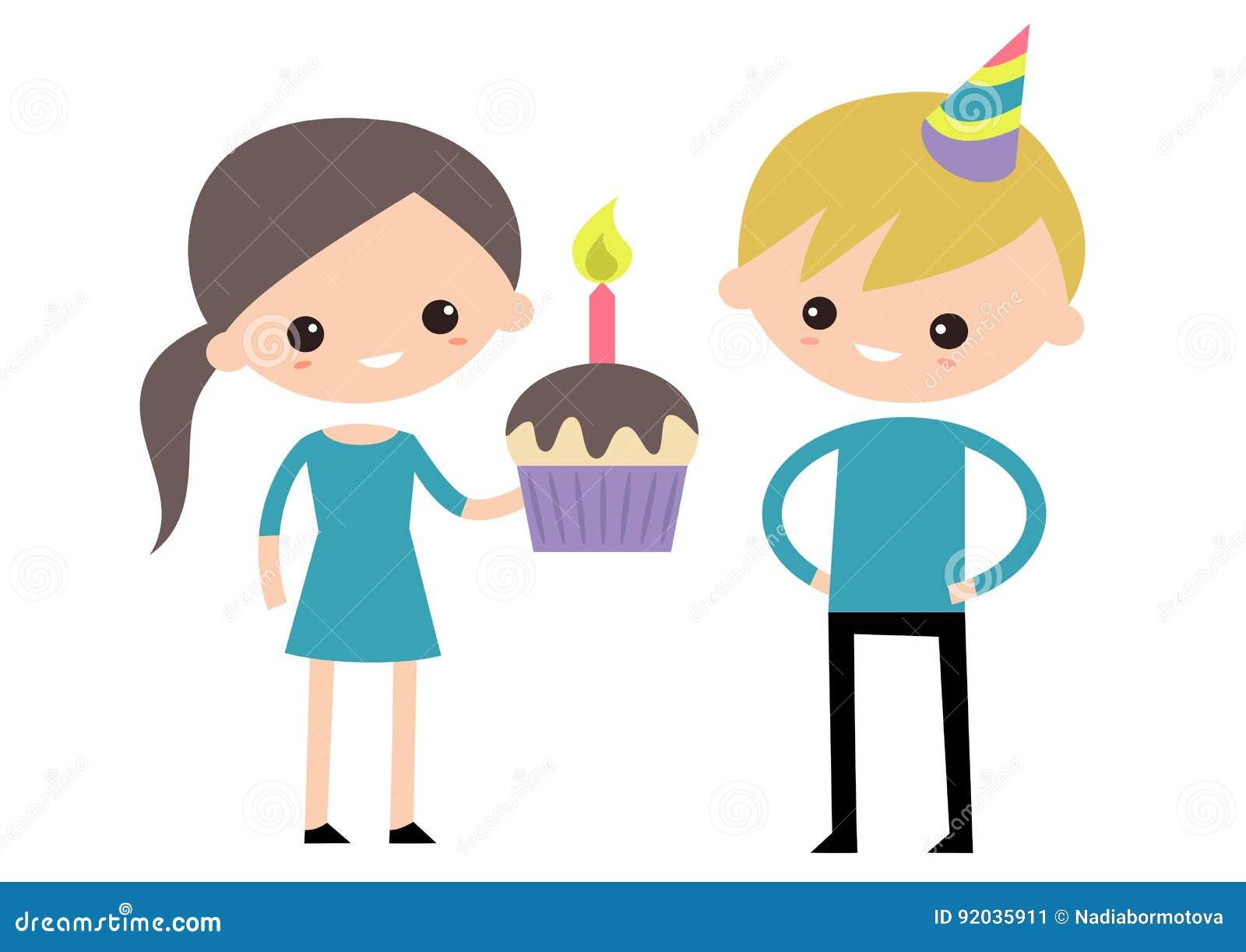 Celebrating Birthday Boy And Girl Party