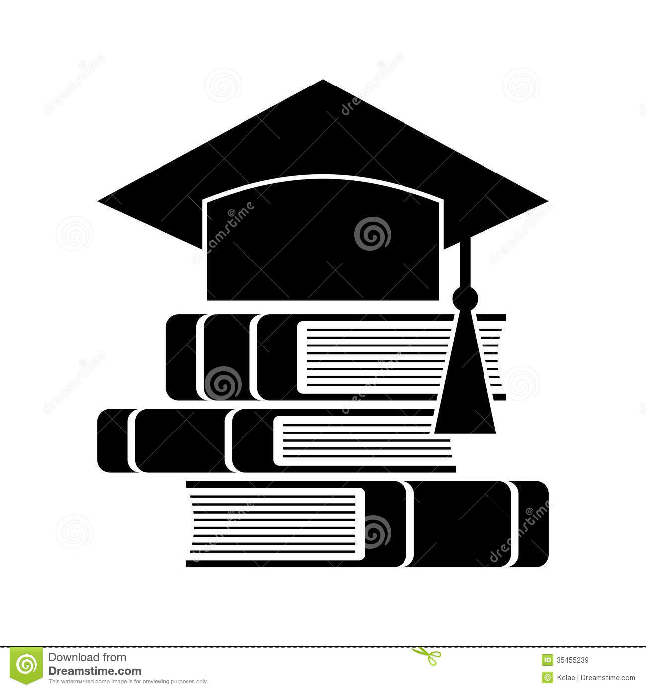 Celebrating Graduating Hat And Books Stock Vector Illustration Of