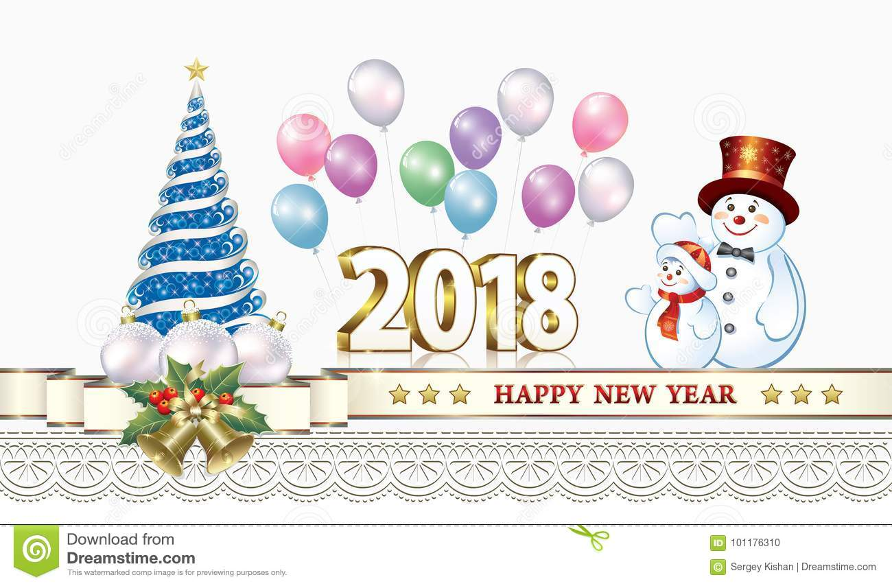 celebrating the new year 2018