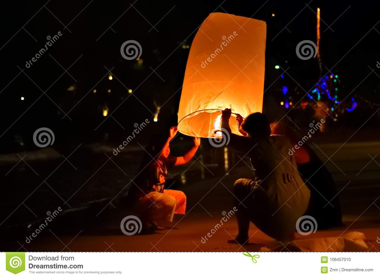 Celebrating The New Year In Thailand Editorial Image - Image