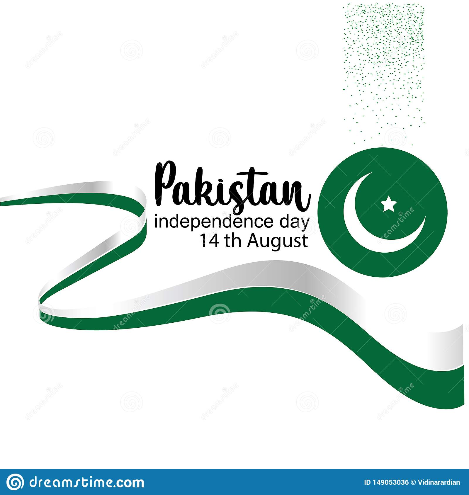 Celebrating Pakistan Independence Day creative vector illustration. 14th August pakistan independence. vector