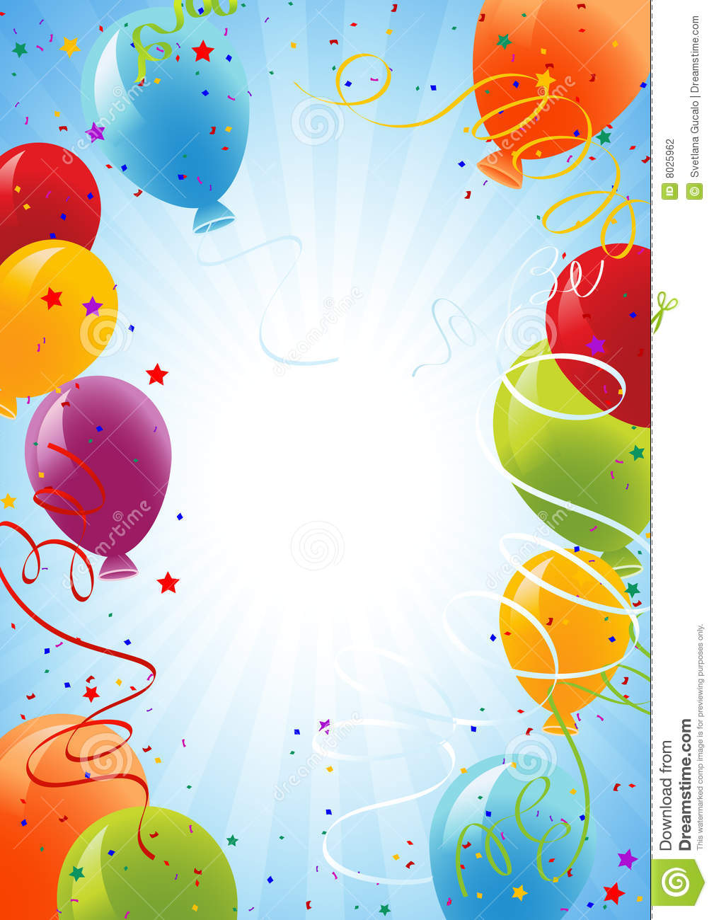 Celebration Background With Balloons Stock Photography - Image
