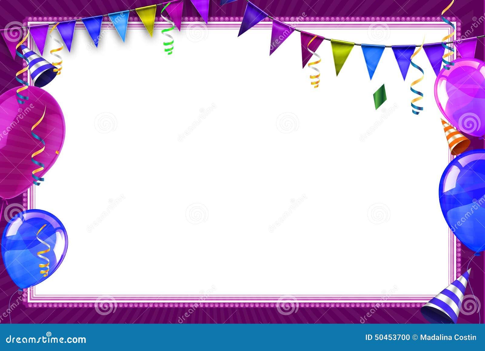Balloon Birthday Invitation with beautiful invitation design