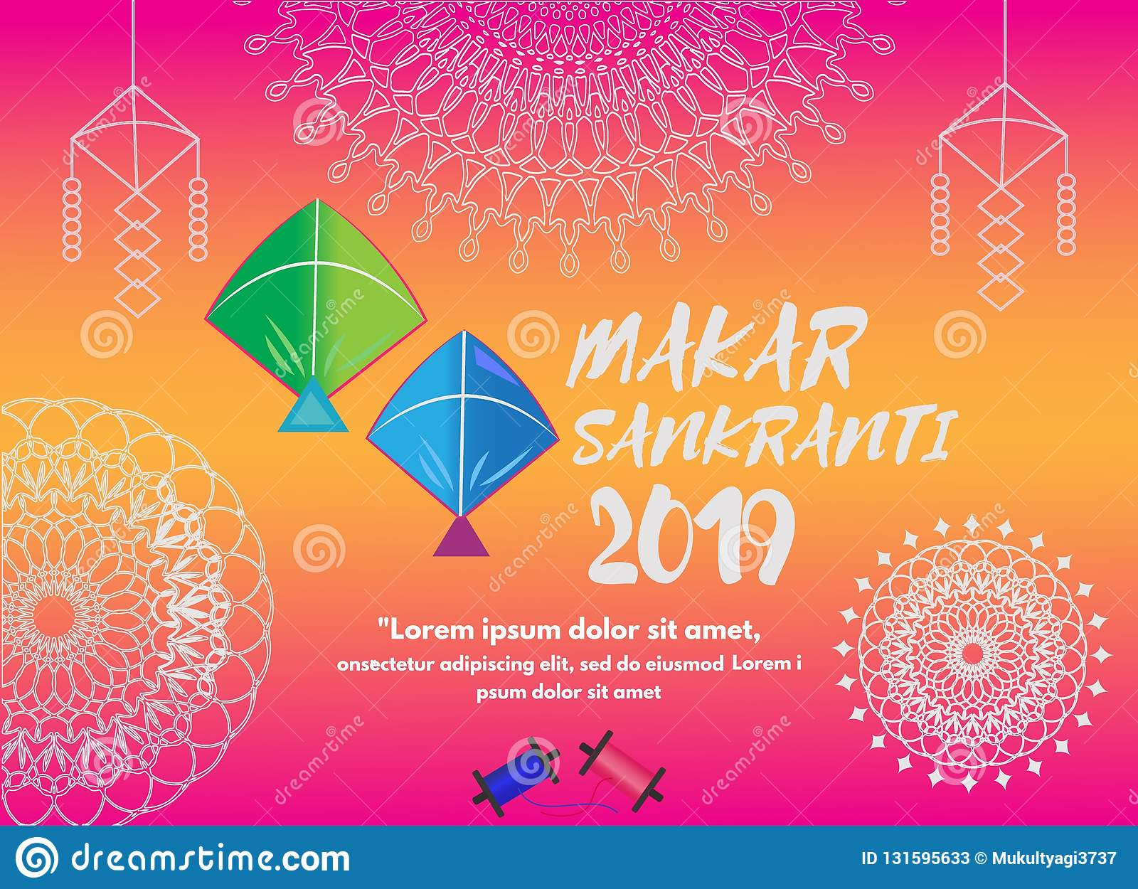 Celebration Background Of Makar Sankranti Festival Vector