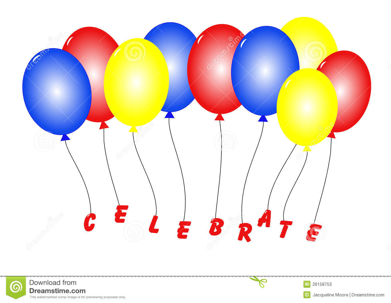 Celebration Balloons Stock Photos - Image: 26158753