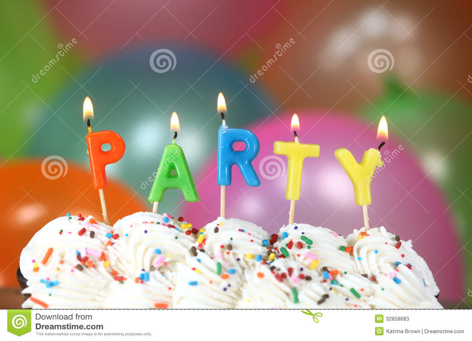 Celebration Birthday Cake With Candles Royalty Free Stock Image