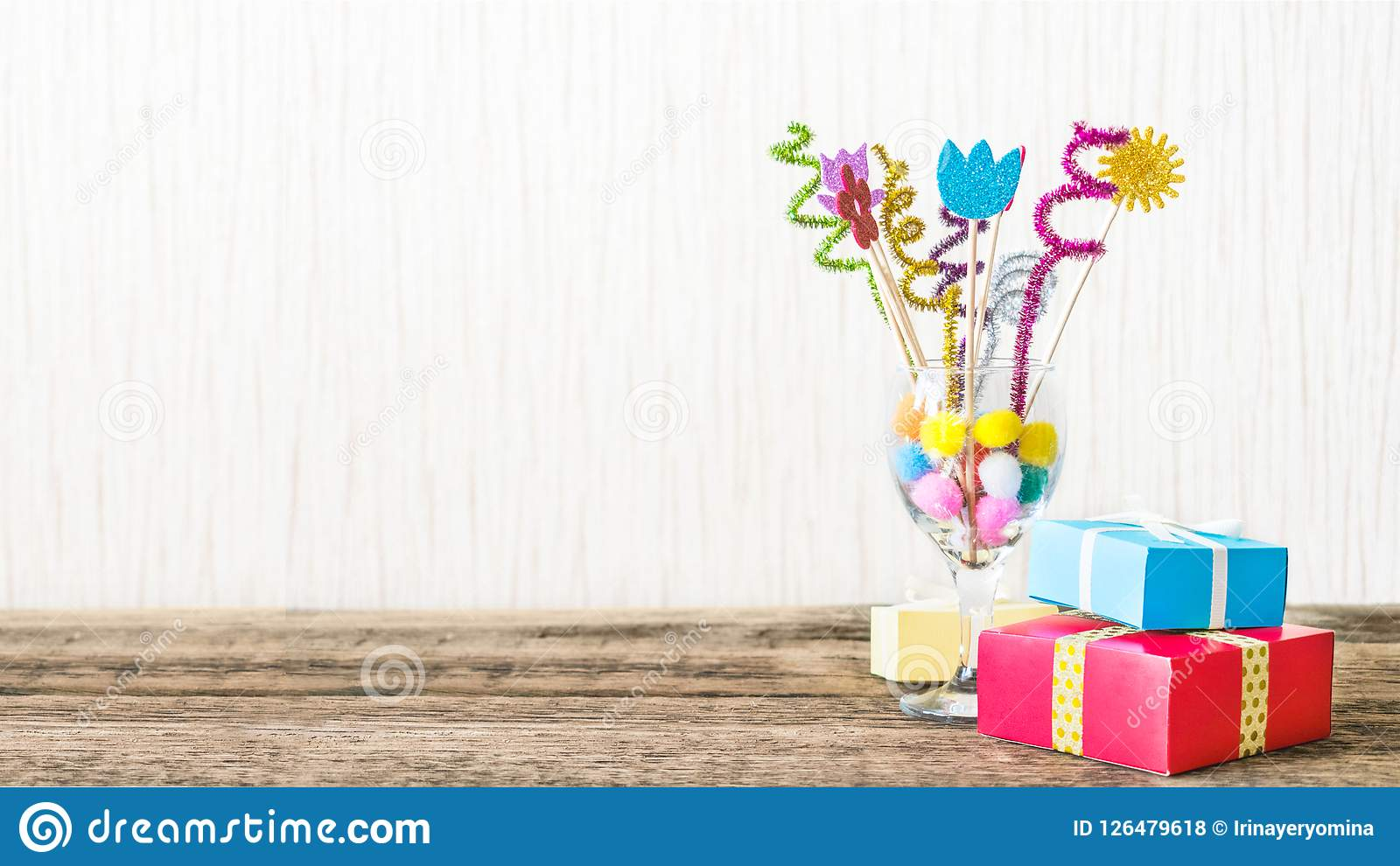 Celebration, Birthday party background with colorful party hat,
