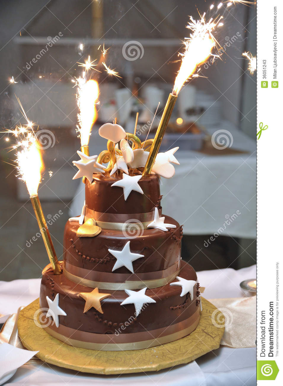 Superb Celebration Cake Stock Image Image Of Fireworks Tasty 36051243 Funny Birthday Cards Online Alyptdamsfinfo
