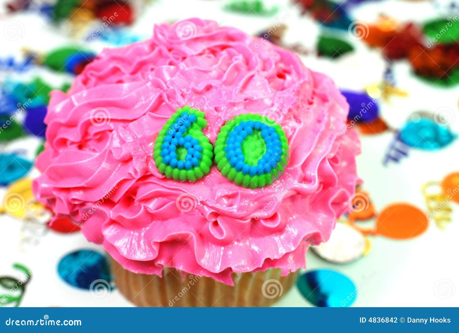 Celebration Cupcake Number 60 Stock Photo Image 4836842