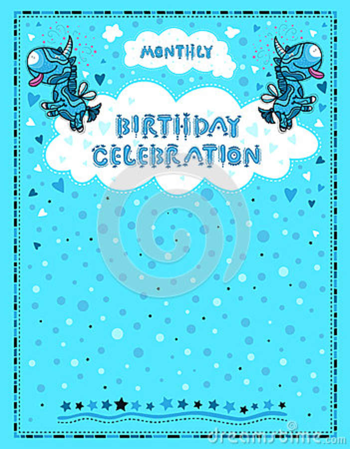 Celebration Letter For Birthdays Children Stock Vector  Image