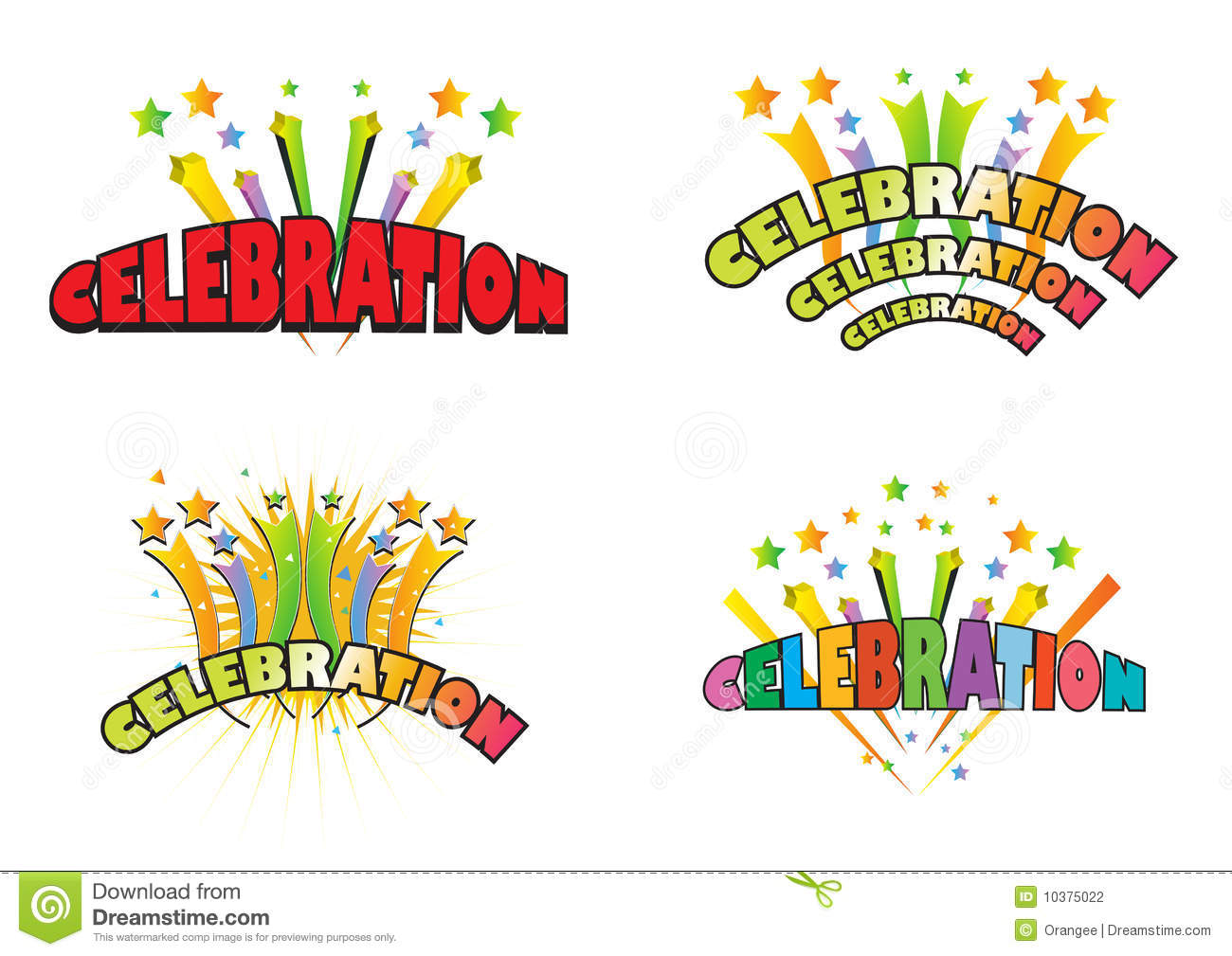 Celebration logos.Adobe illustrator file is available.
