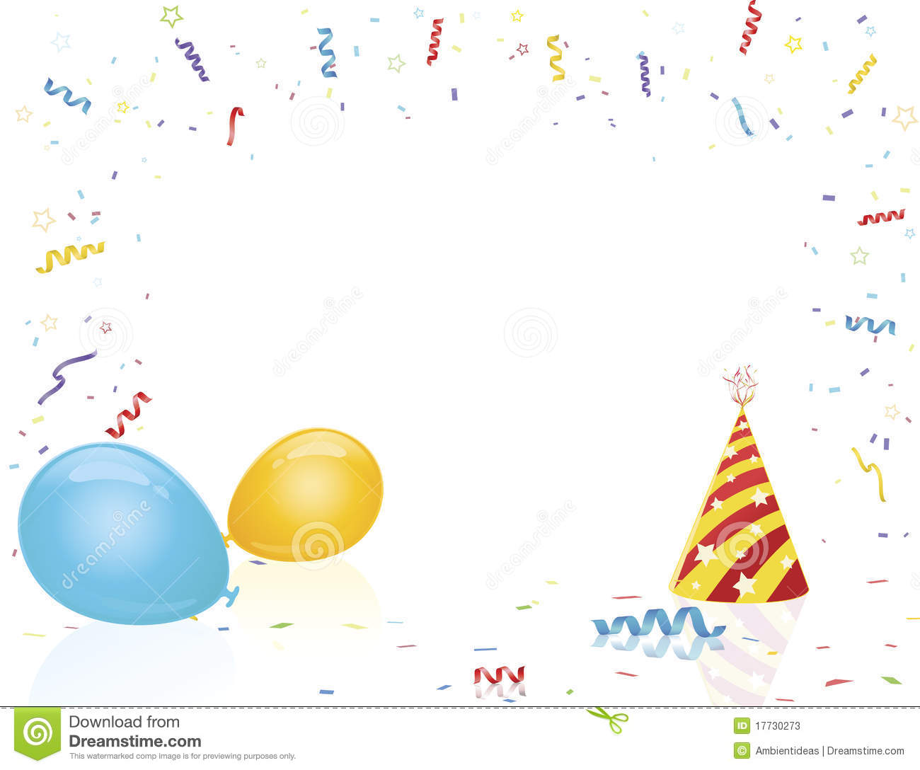 Celebration Party Hat And Balloons Stock Vector