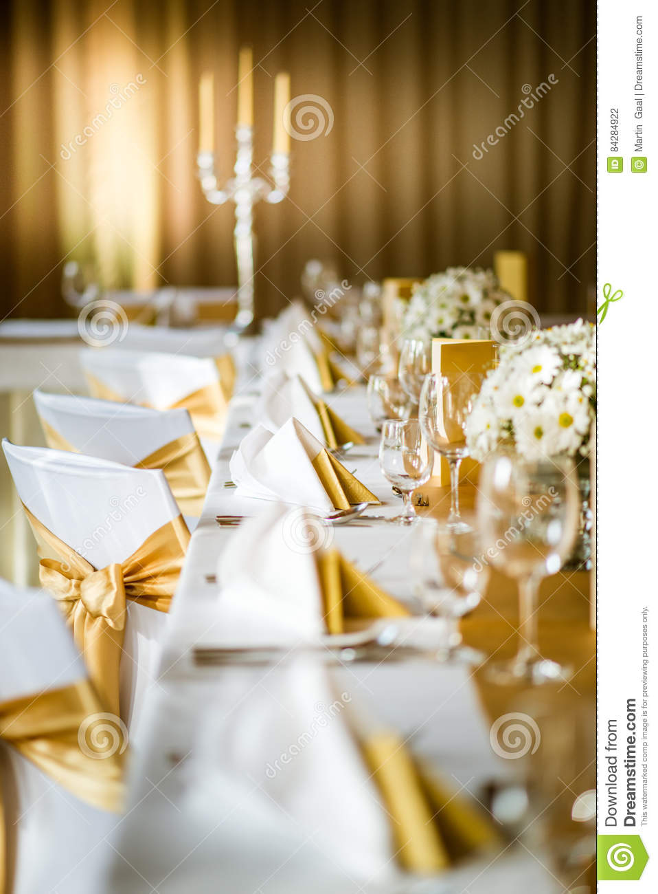 Celebration Seating On Wedding Table Decorations With Flowers For