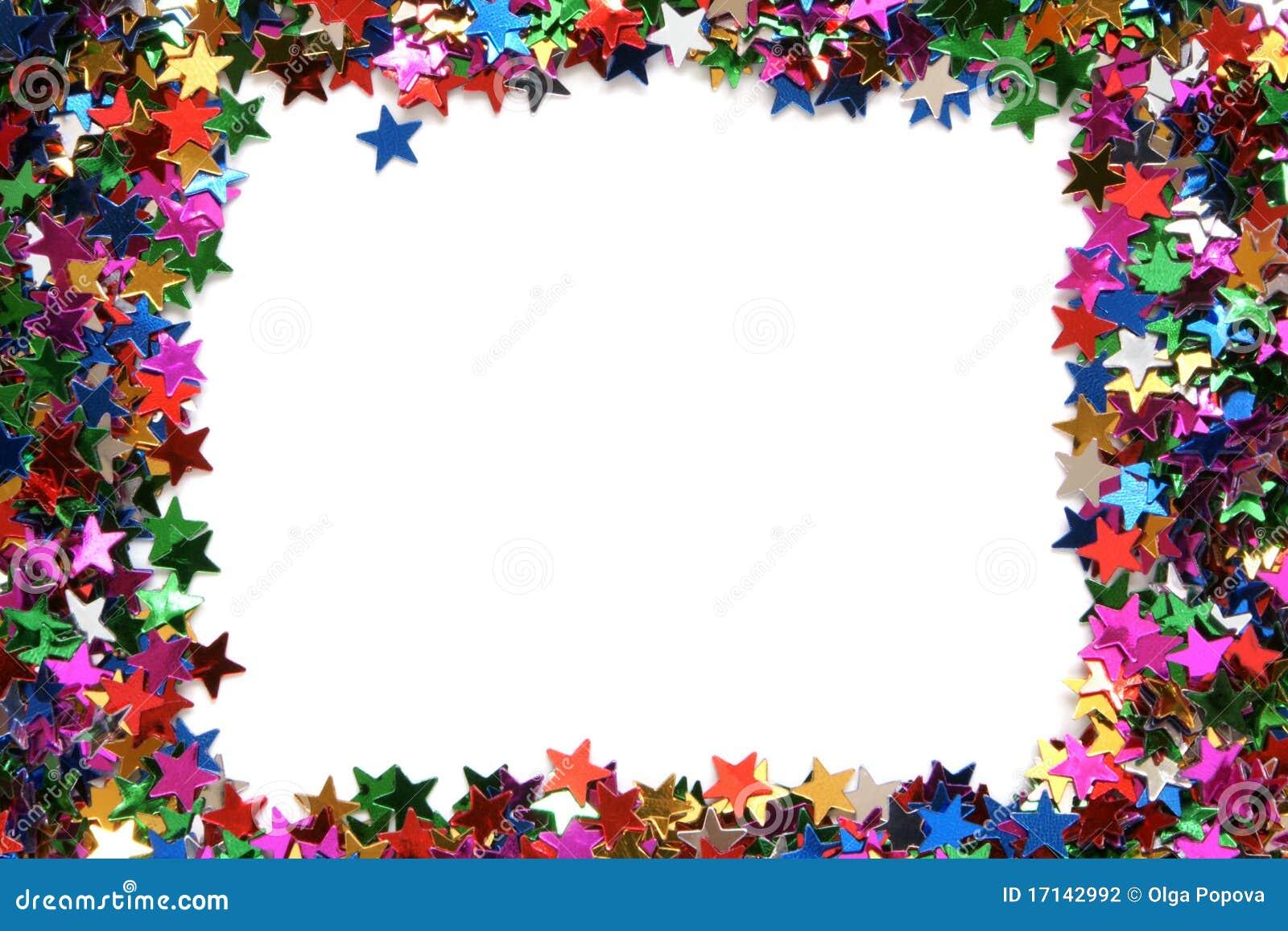 Celebration Stars Frame Stock Photography - Image: 17142992