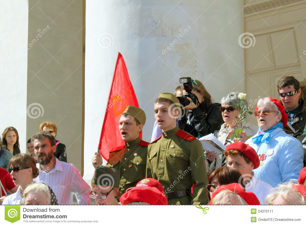 Moscow may 09 the celebration of victory day in moscow