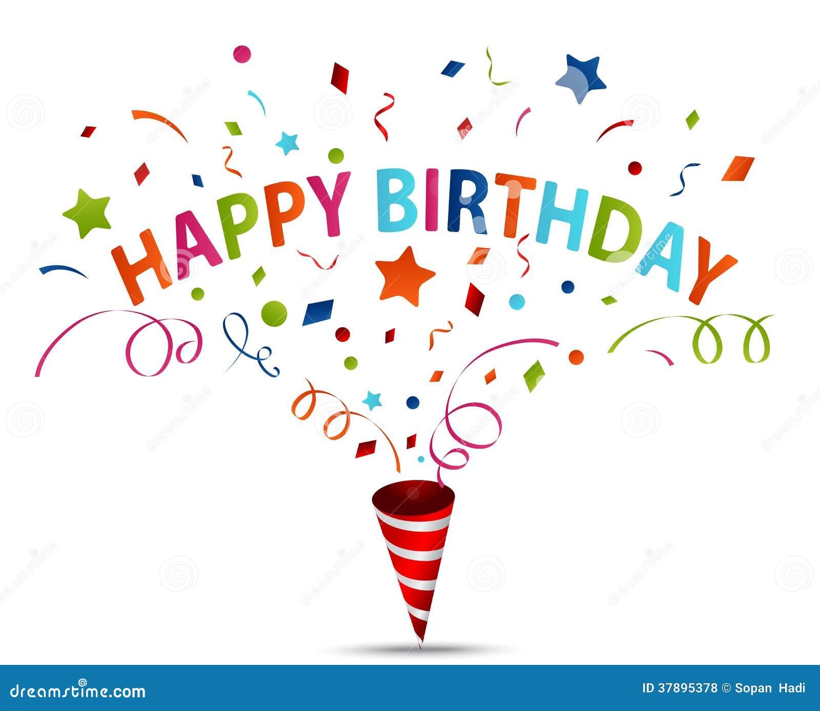 Celebrazione di compleanno con i coriandoli