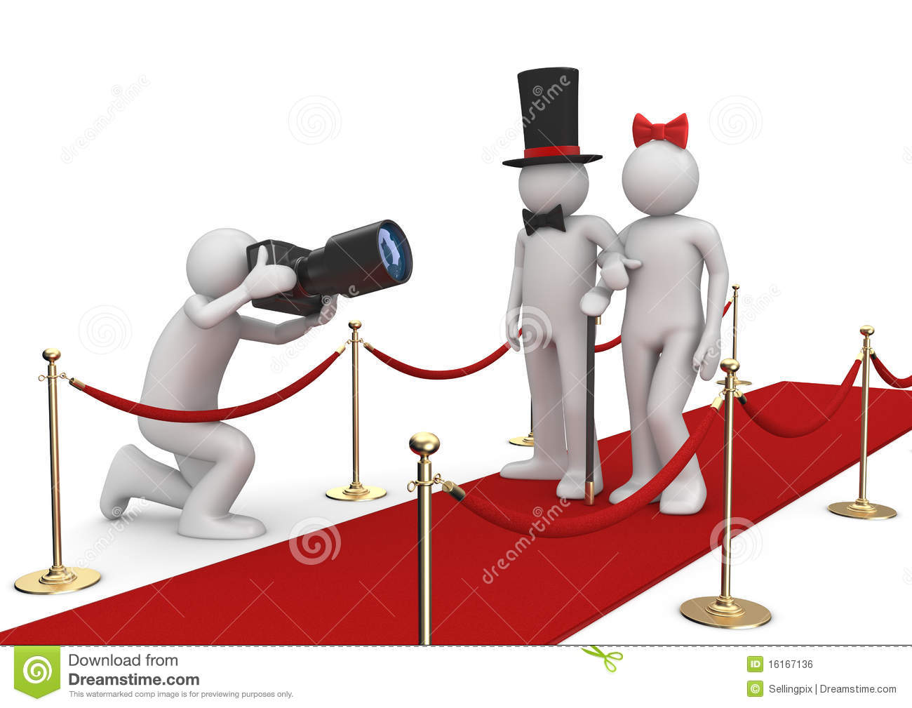 Celebrities On Red Carpet Royalty Free Stock Image Image